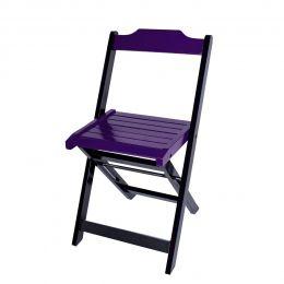 Cadeira para Sorveteria Roxo Dobrável Roma - LH Móveis