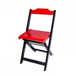 Cadeira para Sorveteria Vermelho Dobrável Roma - LH Móveis
