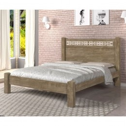 Cama Casal Raissa Noce/Off White