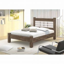 Cama Queen Imperial Castanho/Off White