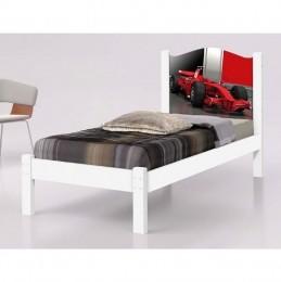 Cama Solteiro Adesivada Ferrari