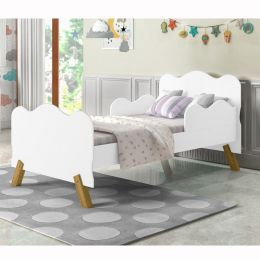 Mini Cama Infantil Angel Branca  - Moveis Cambel