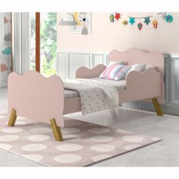 Mini Cama Infantil Angel Rosê  - Moveis Cambel