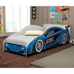Cama Solteiro Carro Corrida Azul