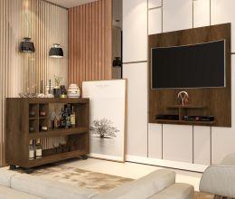 Conjunto Aparador Bar e Painel de Tv Canela 4050-5019 - JB Bechara