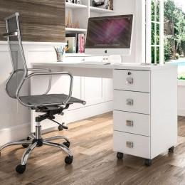 Office 4 Gavetas Branco Brilho Dubai