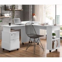 Escrivaninha/Office em L Alessa Branco