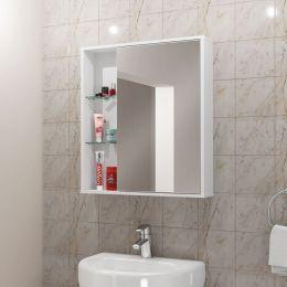 Espelheira para Banheiro Miami Branco - Móveis Bechara
