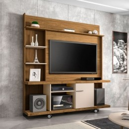 Estante Home para Tv ate 47 polegadas Taurus Cinamomo / Off White - Moveis Bechara