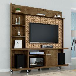 Estante Home para Tv até 47 polegadas Taurus Madeira Rústica / Madeira 3D - Móveis Bechara