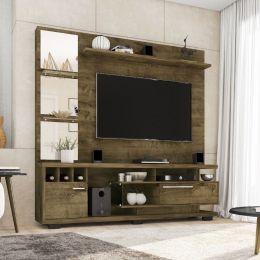 Estante Home para Tv até 60 polegadas Tucson Madeira Rústica - Móveis Bechara