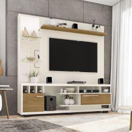 Estante Home para Tv até 60 polegadas Tucson Off White / Cinamomo - Móveis Bechara