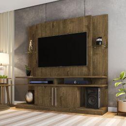 Estante Home para Tv até 60 polegadas York Madeira Rústica - Móveis Bechara