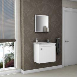 Gabinete com Espelheira Siena Branco - Móveis Bechara