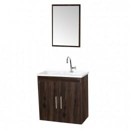 Gabinete com Cuba Para Banheiro Onix Malbec - Fhem Móveis