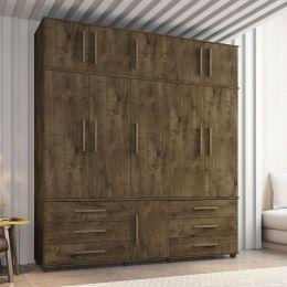 Guarda-Roupa 5 Portas Versales Madeira Rústica - Móveis Bechara