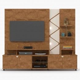 Home para tv até 55'' Amêndoa / Off White Cross