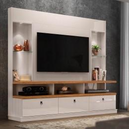 Home para tv até 55'' Off White/Amêndoa Dinamarca