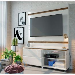 Home Para Tv até 50'' Off White / Canela Allegro