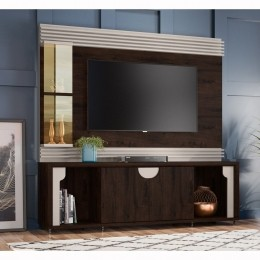 Home para tv até 55'' Madero Noce / Off White Firenze