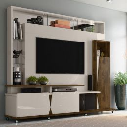Home para tv até 55'' Off White / Canela  Intense