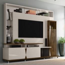 Home para tv até 55'' Off White / Canela  Intense