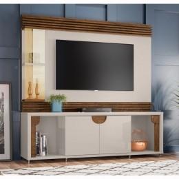 Home para tv até 55'' Off White / Madero Canela Firenze