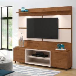 Home Para Tv até 60'' Mad. Castanho / Off White Bless 1.8