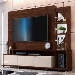 Home para tv até 60'' Noce / Off White Elegance