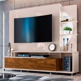Home para tv até 60'' Off White / Canela Elegance