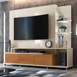 Home Para Tv Até 60 Polegadas Off White / Damasco Elegance