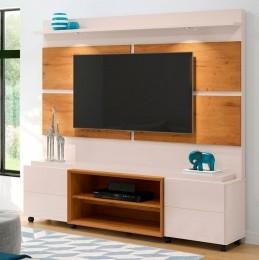 Home Para Tv até 60'' Off White / Madero Canela Bless 1.8