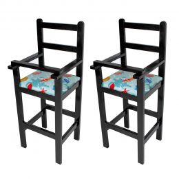 Jogo 2 Cadeiras de Criança para Restaurante de Madeira - LH Móveis