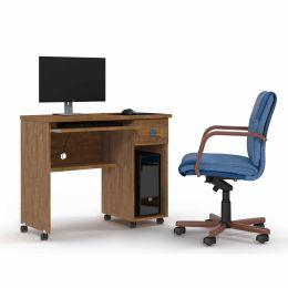 Mesa de Computador com Gaveta Amêndoa Vicenza