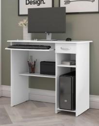 Mesa de Computador Viena Branco - EJ Móveis