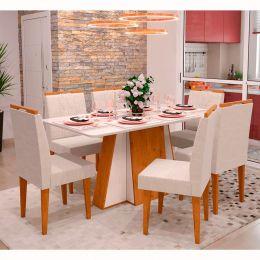 Mesa de Jantar Amalfi Canela / Off White