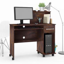 Mesa Para Computador com Gaveta Noce Studio