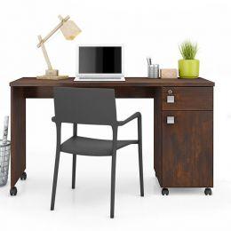 Mesa Escrivaninha com Gaveta Noce Office Malta