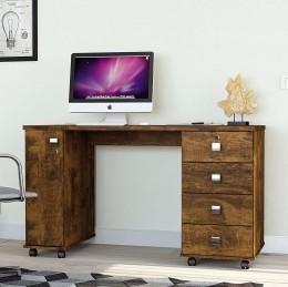 Office Escrivaninha 4 Gavetas Canela Smart