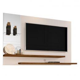 Painel com Espelho para TV até 42 Polegadas 5008 Pérola/Caramelo