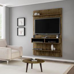 Painel para tv até 47'' Vega com Mesa de Centro Madeira Rústica - Móveis Bechara