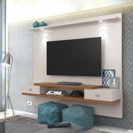 Painel para tv até 55'' Off White / Amêndoa Vênus New