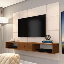 Painel para TV até 55 Polegadas 5025 Pérola/Caramelo