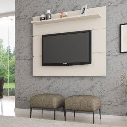 Painel para tv até 55'' Safira Off White - Móveis Bechara