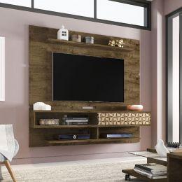Painel para tv até 65'' Búzios Madeira Rústica / Madeira 3D - Móveis Bechara