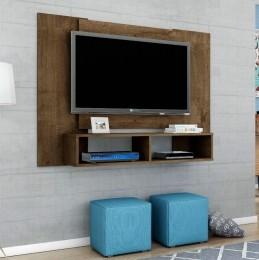 Painel para tv de até 47'' Navi Madeira Rústica - Móveis Bechara