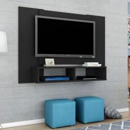 Painel para tv de até 47'' Navi Preto Fosco - Móveis Bechara