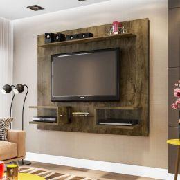 Painel para tv de até 55'' Atlas Madeira Rústica - Móveis Bechara