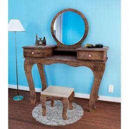 Penteadeira com espelho Canela Madeirado Izabel 7800 - JB Bechara