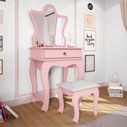 Penteadeira com Espelho Rosê Brilho Baby 7200 - JB Bechara